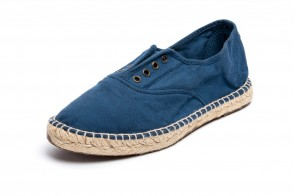Espadrile Natural World, model Ingles, Albastru