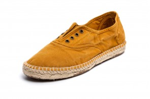Espadrile Natural World, model Ingles, Cuero, aspect Stone-Washed