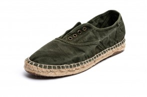 Espadrile Natural World, model Ingles, Kaki, aspect Stone-Washed