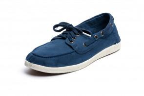 Pantofi din panza Natural World, model Nautico, Albastru
