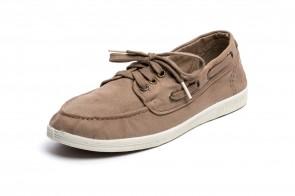 Pantofi din panza Natural World, model Nautico, Bej
