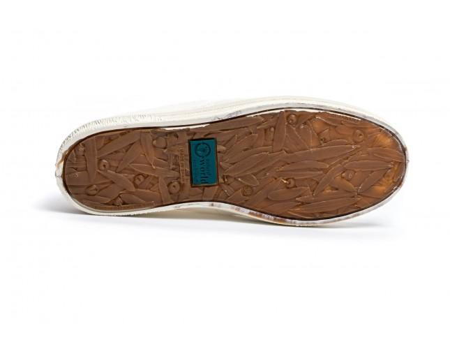 Pantofi din panza Natural World, model Nautico, Turcoaz, aspect Stone-Washed