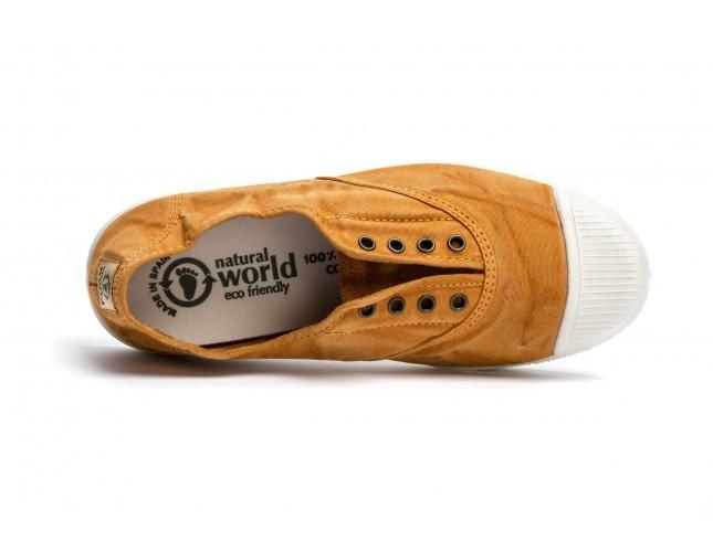Tenisi Natural World, model Elastico, Cuero, aspect Stone-Washed
