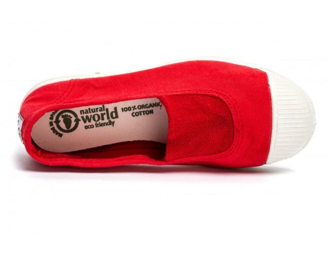 Tenisi Natural World pentru copii, model Elastico Central, Rosu