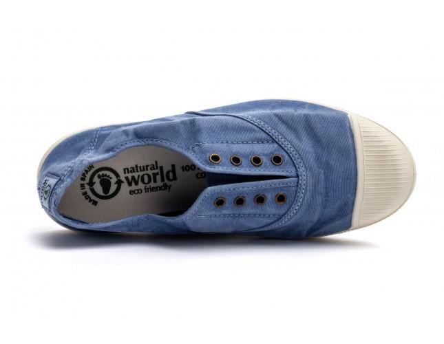 Tenisi Natural World, model Elastico, Albastru Celeste