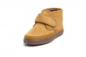 Ghete din piele nubuc Natural World, model 561 Velcro, Bej Amarillo