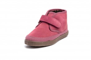 Ghete din piele nubuc Natural World, model 561 Velcro, Rosa