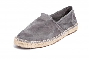 Espadrile Natural World, model Camping Yute 325, Gri, aspect Stone-Washed