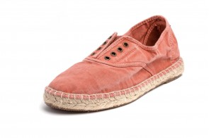 Espadrile Natural World, model Ingles Yute 620, Teracota, aspect Stone-Washed