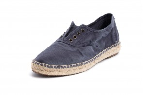 Espadrile Natural World, model Ingles Yute 620, Albastru Marin aspect Stone-Washed