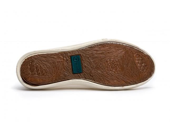 Pantofi Natural World, model Nautico 303, Teracota, aspect Stone-Washed