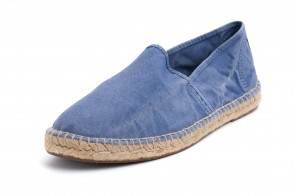 Espadrile Natural World, model Camping Yute 325, Albastru Celeste aspect Stone-Washed