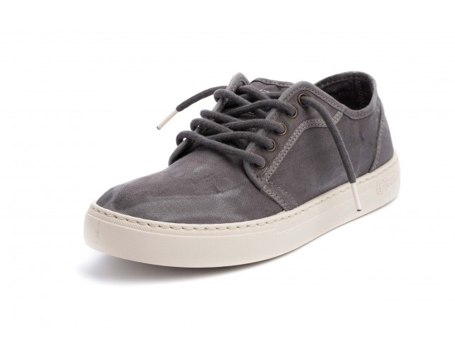 Pantofi Natural World, model BASKET 6602, Gri aspect stone-washed