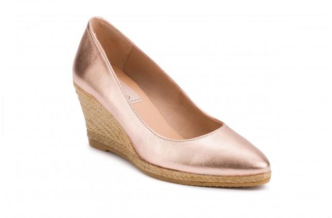 Pantofi Gaimo, din piele naturala, model TEVA ROSES, Somon Metalizat