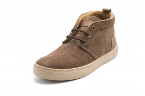 Ghete Natural World din piele intoarsa, model SUEDE WOOL 6722, Maro