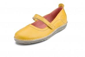 Pantofi ATXA din piele, model Rustik 1719, Galben Cereal