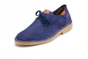Pantofi ATXA, din piele intoarsa, model Safari 1916, Albastru Electric